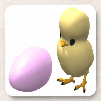Chicken Or The Egg Beverage Coaster