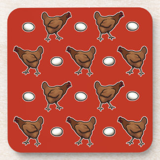Chicken or the Egg? Drink Coasters