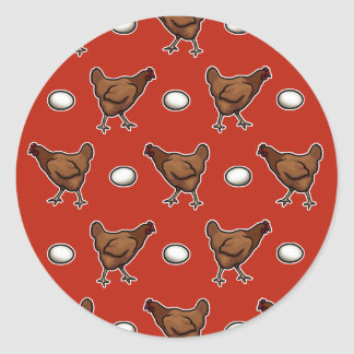 Chicken or the Egg? Classic Round Sticker