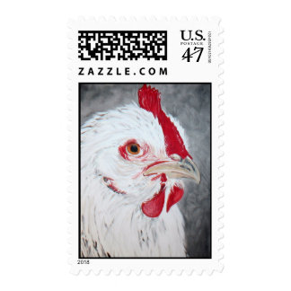 Chicken Painting by Kathryn A. Gainard Postage