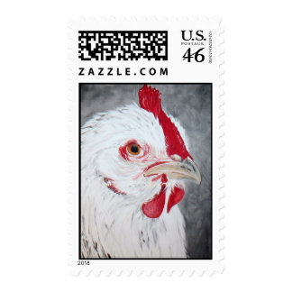 Chicken Painting by Kathryn A Gainard Postage Stamp