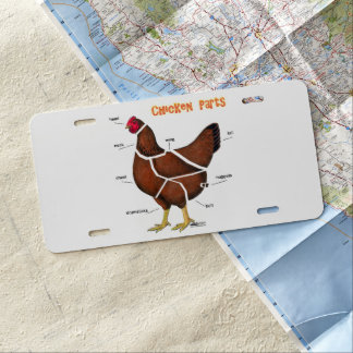 Chicken Parts License Plate