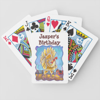 Chicken Party Center Bicycle Playing Cards