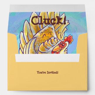 Chicken Party Center Envelope