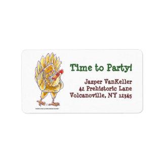 Chicken Party Center Address Label