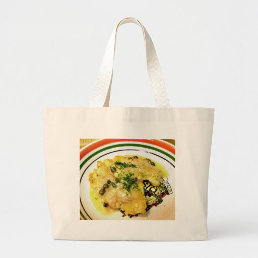 Chicken Piccata Dinner Cooking Food Canvas Bag