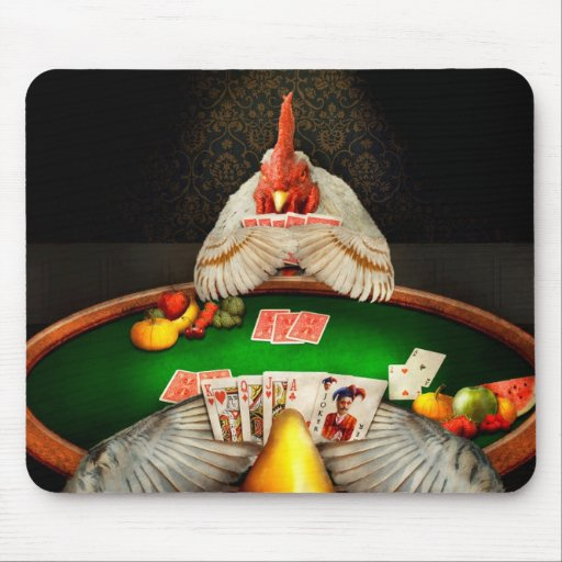 Chicken - Playing chicken Mousepads