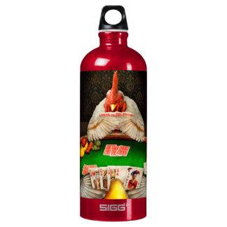 Chicken - Playing chicken Water Bottle