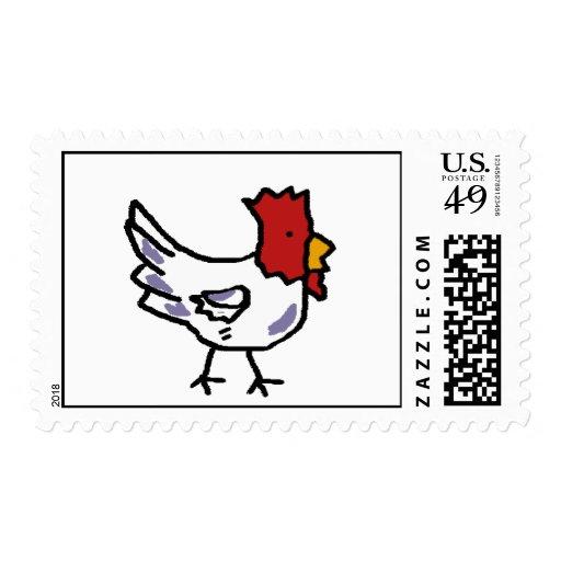 chicken postage stamp