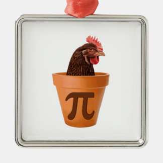 Chicken Pot Pi (and I don't care) Metal Ornament