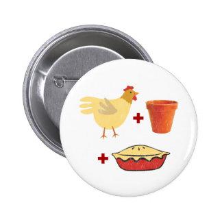 Chicken Pot Pie 2 Inch Round Button