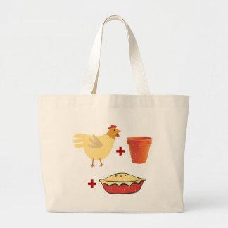 Chicken Pot Pie Canvas Bags
