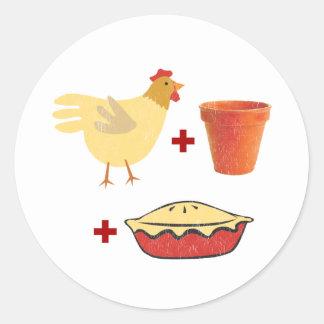 Chicken Pot Pie Round Stickers