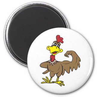 Chicken Power!  Customizable! Refrigerator Magnets