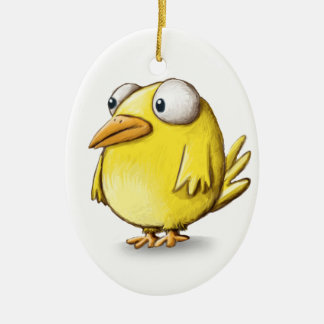 Chicken products Double-Sided oval ceramic christmas ornament