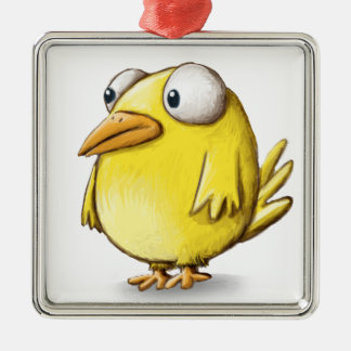 Chicken products square metal christmas ornament