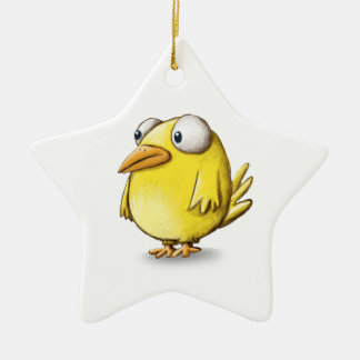 Chicken products Double-Sided star ceramic christmas ornament