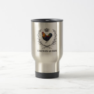 Chicken Queen Travel Mug by Fluffy Layers