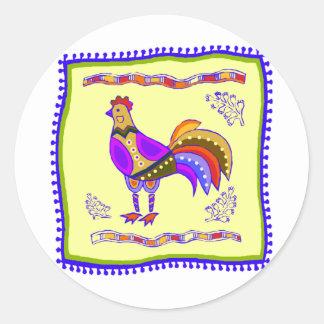 Chicken Quilt Sticker