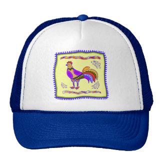Chicken Quilt Trucker Hat