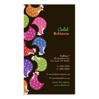 Chicken Rainbow Fun Pattern Food Business Card