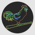 Chicken Ranch Rainbow Rooster Sticker
