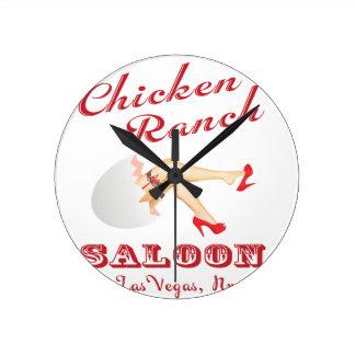 Chicken Ranch Saloon Las Vegas Round Clock