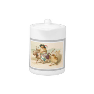 Chicken Riding Lamb - Cute Vintage Easter Gift