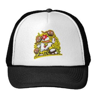 chicken robot design art trucker hat