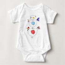 Chicken rooster chick adorable family T shirt