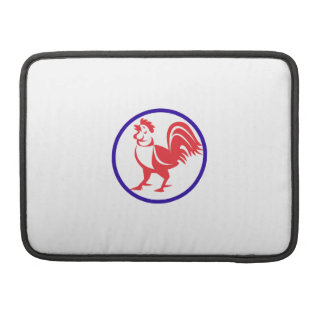 Chicken Rooster Crowing Circle Retro Sleeve For MacBook Pro