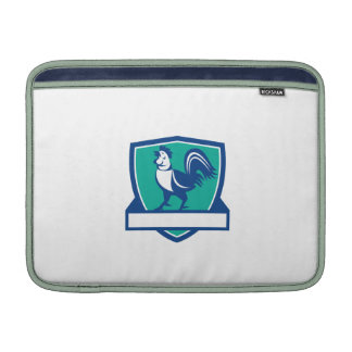 Chicken Rooster Crowing Shield Retro Sleeve For MacBook Air
