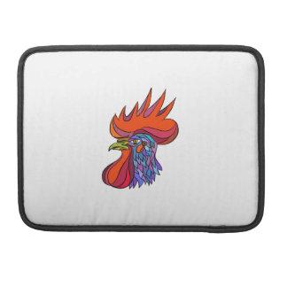 Chicken Rooster Head Side Drawing MacBook Pro Sleeves