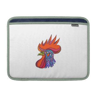 Chicken Rooster Head Side Drawing MacBook Sleeves
