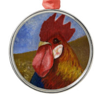 Chicken - Rooster Metal Ornament