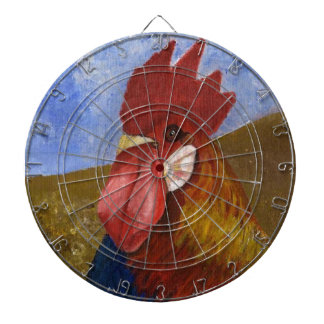 Chicken / Rooster Painting Dart Board