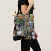 Chicken Rooster Photo Collage, Tote Bag