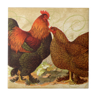 Chicken Rooster Small Square Tile
