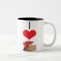 chicken,rooster Two-Tone coffee mug