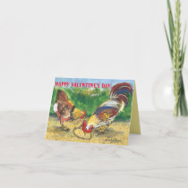 Chicken Rooster Valentine Love Romantic Farm Humor Card