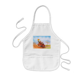 chicken run kids' apron