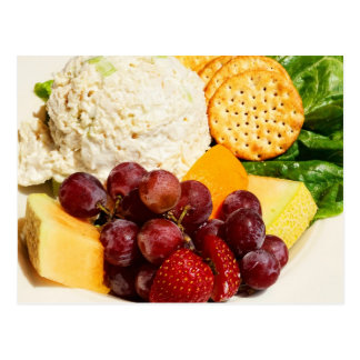 Chicken Salad with fruits crackers Post Cards