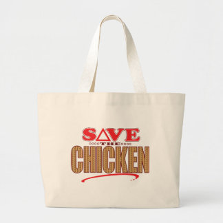 Chicken Save Large Tote Bag