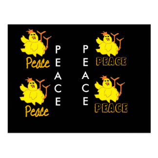 chicken says Peace Postcard