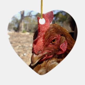 Chicken_Scowl,_ Ceramic Ornament