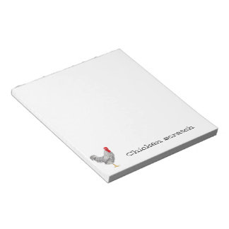 Chicken scratch paper pad notepad