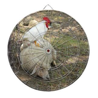 Chicken Sitting on a Sheep Dart Board
