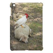 Chicken Sitting on a Sheep iPad Case