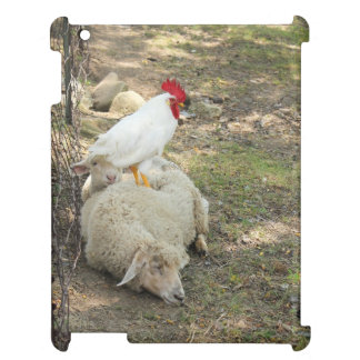 Chicken Sitting on a Sheep iPad Case