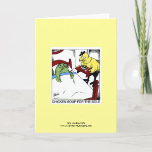 Far side gifts on zazzle chicken soup 4 the sole cartoon greeting card m4hsunfo